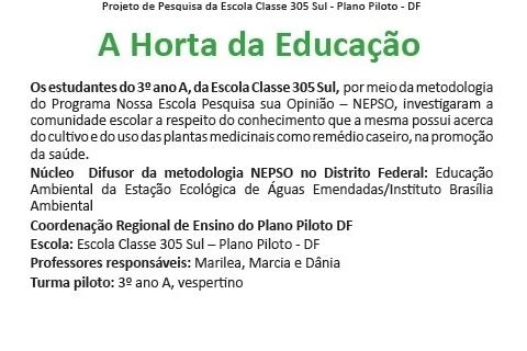 Horta na educação