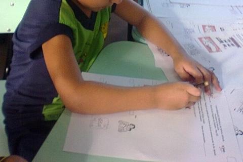 Os livros do kit de material escolar da educação infantil
