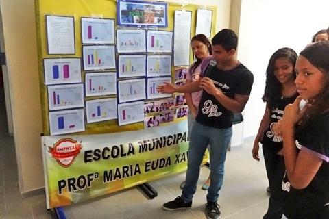 Qual a opinião dos alunos da escola Maria Euda Xavier e da escola Enedina Campos sobre a prática de esportes radicais?